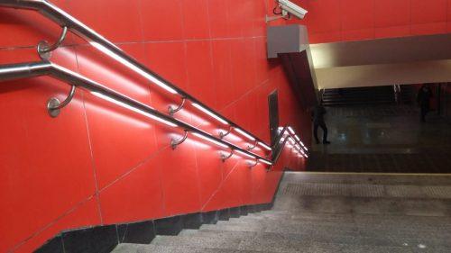 перила с подсветкой на станции Рассказовка