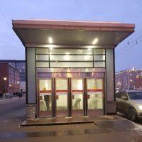 Двери маятниковые типа метро