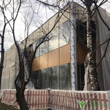 Монтаж фасада здания м краснопресненская