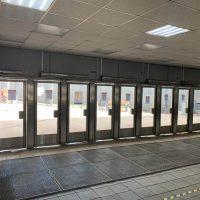 Изготовление и монтаж маятниковых дверей на станции Ховринское шоссе