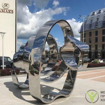 Изготовление скульптуры из нержавеющей стали
