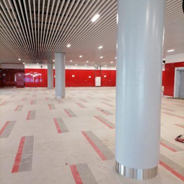 Аэропорт Домодедово изготовление и монтаж колонн или облицовка колонн облицовка круглых колонн